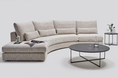 Columbus - living room furniture - modular sectional with ottoman, induction charger (optional)