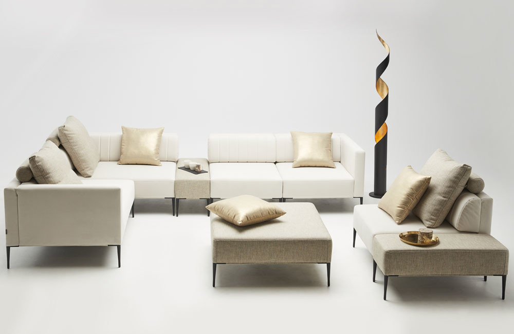 wypoczynki do salonu - kolekcja nowoczesnych tapicerowanych mebli modułowych - Como