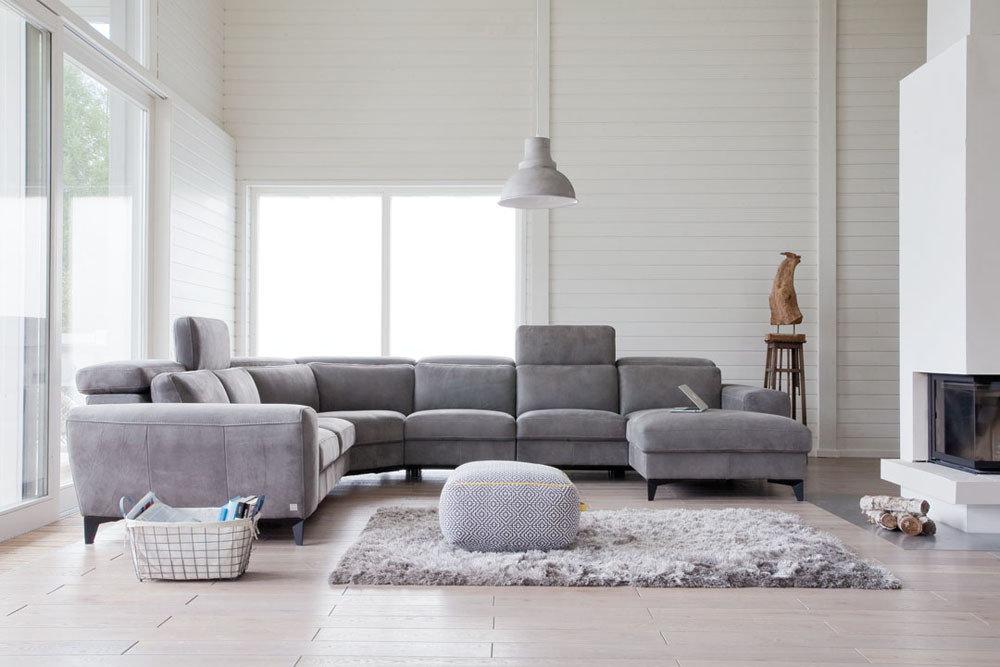 Meble do salonu - kolekcja tapicerowanych mebli z funkcją relax - Hamilton