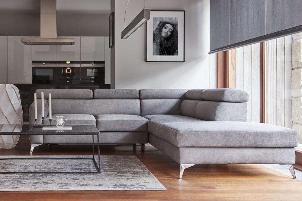 Optimus - sofa z funkcją spania - kolekcja nowoczesnych tapicerowanych mebli modułowych