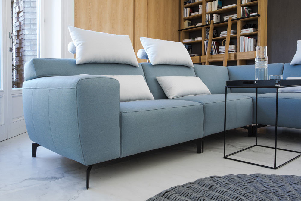 Plain - living room furniture - modern sectional with comfort reclining mechanism for legs