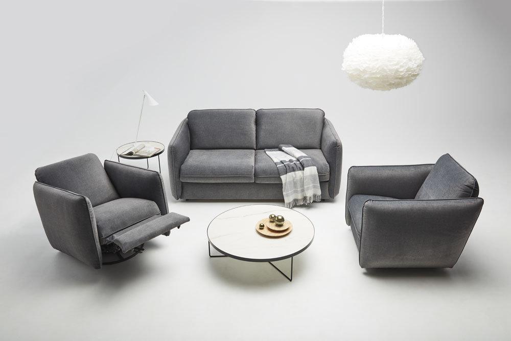 Riva - Meble do salonu - kolekcja nowoczesnych tapicerowanych mebli modułowych z funkcją spania oraz z fotelami z funkcją relaks