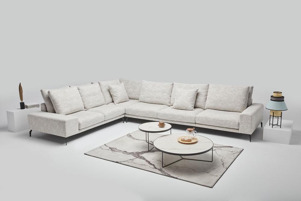 Manhattan - narożnik z funkcją spania - kolekcja nowoczesnych tapicerowanych mebli modułowych