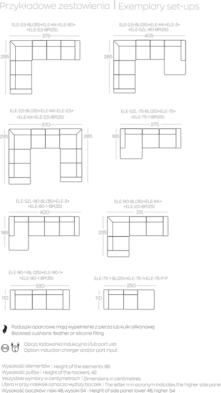 Kolekcja mebli Manhattan - przykładowe zestawienia