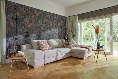 Meble do salonu - kolekcja tapicerowanych mebli z funkcją spania - Calvados