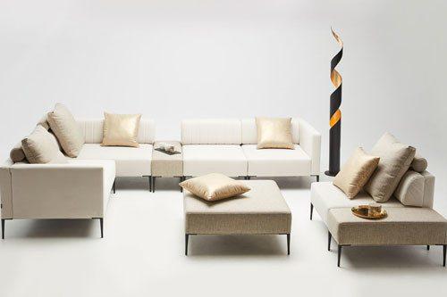 Meble do salonu - kolekcja nowoczesnych tapicerowanych mebli modułowych - Como