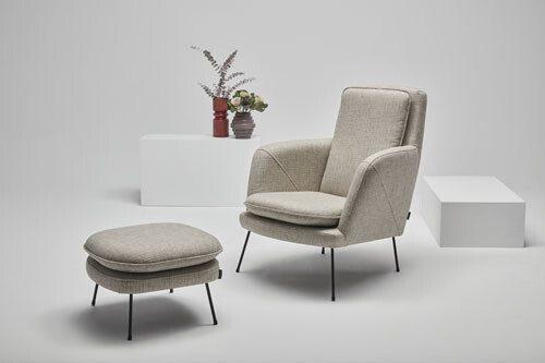 Soho - modern armchair with ottoman