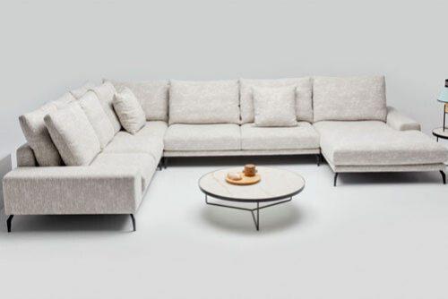 białe meble do salonu Lubań - Domar: sofy, kanapy fotele , zestawy mebli.